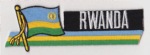 Rwanda Embroidered Flag Patch, style 01.